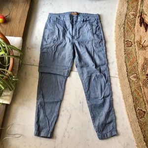 7 for all Mankind Chabray Cropped Pants Jeans 27